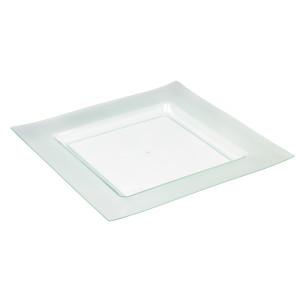 Comprar Plato de 150 mm Serie Diamante Verde Transparente