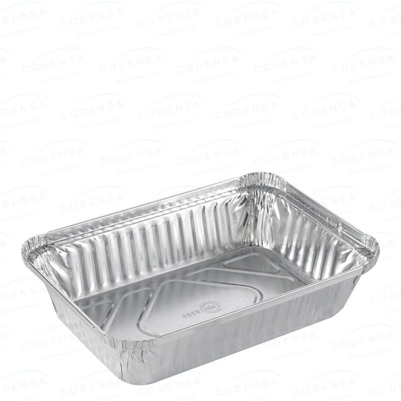 """Venta de Envase aluminio rectangular """"rizo"""""""
