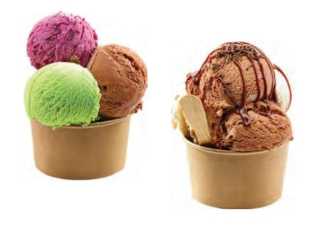 Venta de Tarrinas Kraft para helados