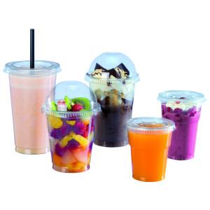 Vasos de plástico transparente para granizado
