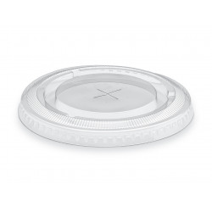 Tapa transparente para vasos de plástico