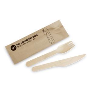 Comprar Set de cubiertos de madera biodegradables