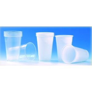 Vasos de plástico blancos (100 unid.)