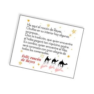 Comprar Tarjeta con Historia del Roscón de Reyes