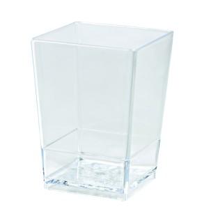 Vaso Cuadrado Transparente