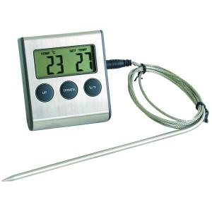 Termómetro Digital con Sonda para Horno de -50 + 300°C