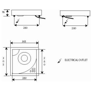 Placa de Inducción Portátil 2.2 KW