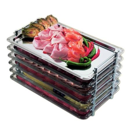 Comprar Bandeja de Acero Inoxidable Apilable Gastronorm 1/1