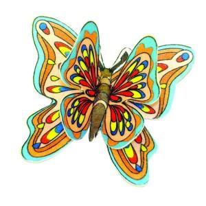 Mariposa Doble en Oblea