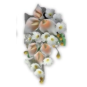Ramillete Arum de las Islas Color Salmón