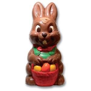 Molde de Policarbonato Conejo de Pascua con Cesta de Huevos