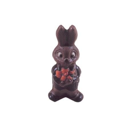 Comprar Molde de Policarbonato Conejo con Traje y Flor