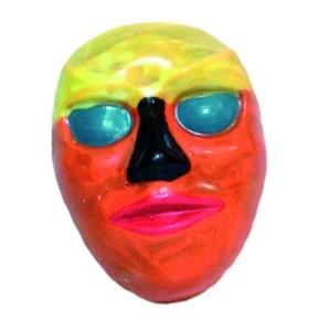 Molde de Policarbonato Máscara con Colores Vivos