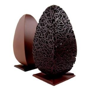 Kit Molde Termoperforado Huevo de Diseño Cuadrado con Enredos
