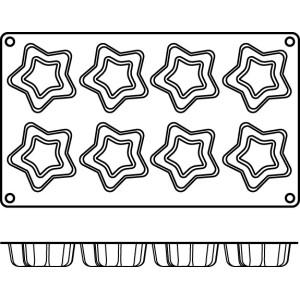 Molde de Silicona con Forma de 8 Estrellas