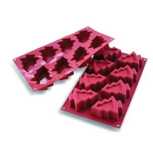 Comprar Molde de Silicona con Forma de 8 Árboles de Navidad