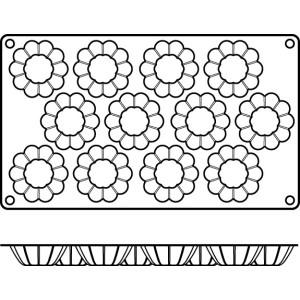 Molde de Silicona con Forma de 12 Mini Brioches