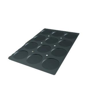 Molde de Silicona con Forma de 12 Discos de Bizcochos