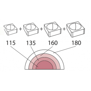 Molde de Silicona Media Esfera 6 Tortaflex