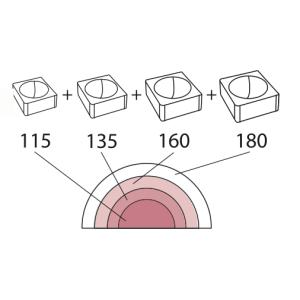 Molde de Silicona Media Esfera 6 Tortaflex 18 cm