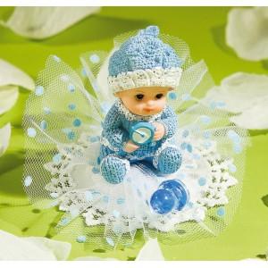 Adorno Azul para Tarta de Bebé con Chupete