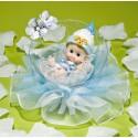 Comprar Muñeco de Recién Nacido en Burbuja con Tul Azul Profesional
