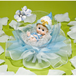 Comprar Muñeco de Recién Nacido en Burbuja con Tul Azul