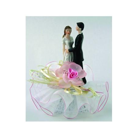 Comprar Parejas de Novios 4 Modelos Estilo Barbara con Base de Tul y Rosa