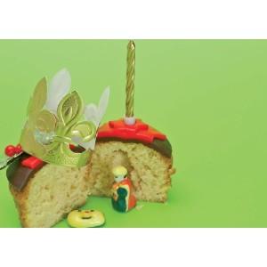 Tarjeta con Historia del Roscón de Reyes