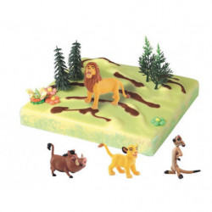 Kit de decoración para tartas de figuras del Rey León 3D