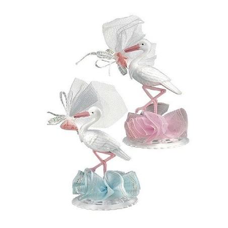 Comprar Cigüeñas Rosa y Azul Decoración Bautizos