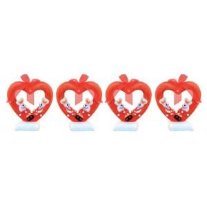 Decoración de Corazón con Conejitos