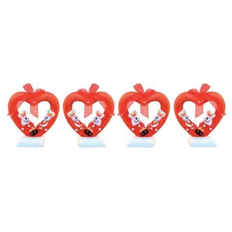 Comprar Decoración de Corazón con Conejitos