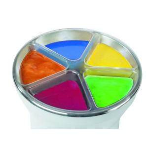 Comprar Soporte con 5 compartimentos para chocolate de colores