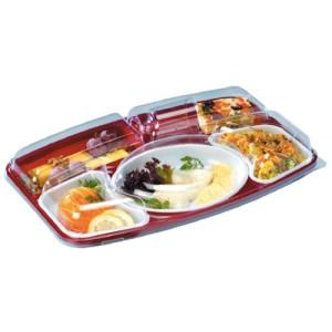 Comprar Kit gama alta bandeja de plástico con 5 compartimentos (15 ud)
