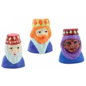 Adornos Bustos de los 3 Reyes Magos para Roscón