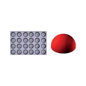 Molde de silicona Gominolas (Fruit Jellies) - semi esfera