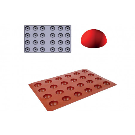 Comprar Molde de silicona Gominolas (Fruit Jellies) - semi esfera Maxi