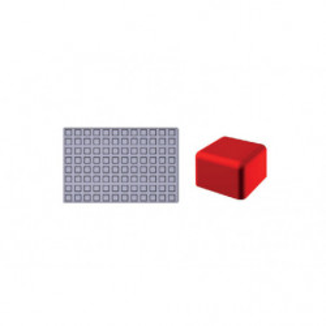Molde de silicona Gominolas (Fruit Jellies) - Mini cuadrados