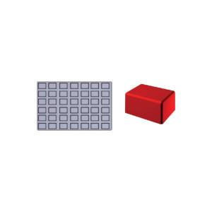 Molde de silicona Gominolas (Fruit Jellies) - Rectangulo 42 piezas