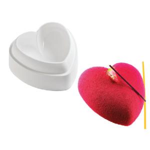 Molde de silicona TortaFlex - Corazon abombado