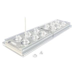 Molde silicona 3D - 12 Piruletas