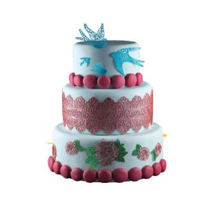 Placa de silicona para cenefas de azúcar - Modelo Happy Birthday
