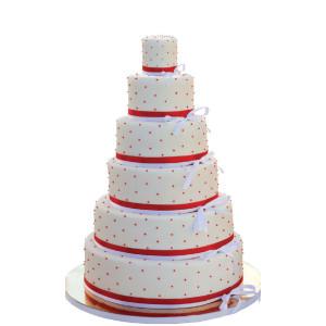 Presentacion Poliestireno - Tarta bodas redonda 6 pisos