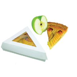 Comprar Caja blanca para pastel triangular