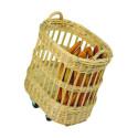 Comprar Cesta de Mimbre ovalada con ruedas para Pan Profesional