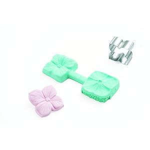 Molde para pasta de azúcar Flor 4 petalos