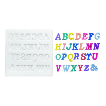Comprar Molde de silicona alfabeto