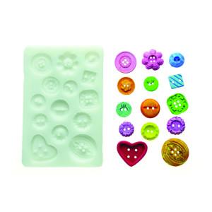 Molde de silicona botones