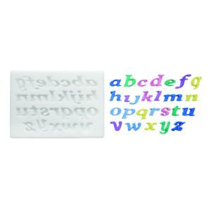 Molde de silicona alfabeto cursiva